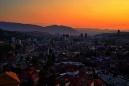 západ slunce nad Sarajevem